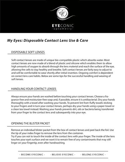Disposable Contact Lens Information download